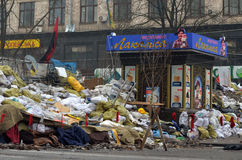 Downtown of Kiev. Begining of civil war Stock Image