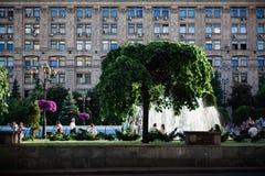 Downtown of Kiev stock photography