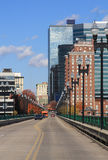 Downtown Knoxville. View of downtown Knoxville, Tennessee from the Gay Street bridge Stock Photography