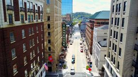 Downtown Knoxville. Gay street birds eye view downtown Knoxville Stock Photography