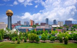 Downtown Knoxville. Skyline of downtown Knoxville, Tennessee, USA Stock Images