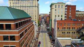 Downtown Knoxville Tennessee. Gay street birds eye view Royalty Free Stock Image