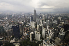 Downtown Kuala Lumpur from above Royalty Free Stock Photography