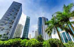 Downtown of Kuala Lumpur in KLCC district Royalty Free Stock Images