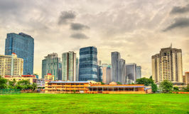 Downtown Kuala Lumpur skyline. Malaysia Stock Images