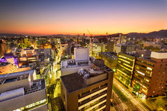 Downtown Kumamoto, Japan Stock Images