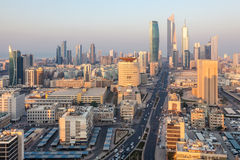 Downtown of Kuwait City. Middle East Royalty Free Stock Photo