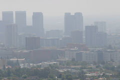 Downtown LA Air Pollution. View on the air pollution of Downtown LA on a sunny day royalty free stock image