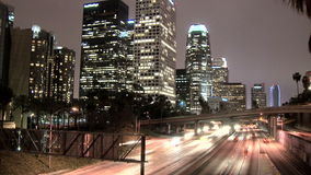 Downtown la highway timelapse stock video