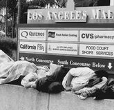 Downtown la. Homelessness, downtown, freedom of choice, lifestyle Royalty Free Stock Photos