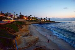 Downtown La Jolla Stock Photography