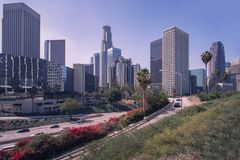 Downtown, LA Los Angeles, California skyline. Stock Image