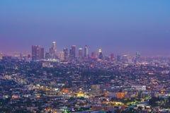 Downtown LA Los Angeles skyline in California. Downtown LA Los Angeles skyline cityscape California Stock Photo