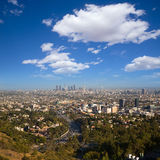 Downtown LA Los Angeles skyline California Stock Photos