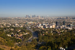 Downtown LA Los Angeles skyline California Royalty Free Stock Images