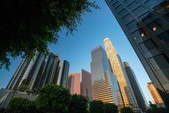 Downtown LA Los Angeles skyline cityscape California Stock Photo