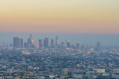 Downtown LA Los Angeles skyline cityscape California Stock Photos