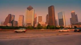 Downtown LA night Los Angeles sunset skyline stock video