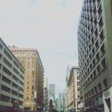 Downtown LA. Passing through downtown LA stock images