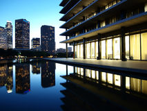 Downtown LA Reflecting Pond Royalty Free Stock Photo