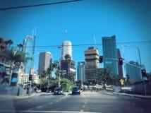 Downtown la skyline Royalty Free Stock Photos