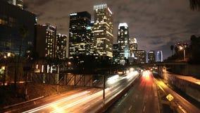 Downtown la traffic timelapse stock video footage