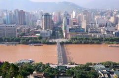 Downtown Lanzhou Stock Photo