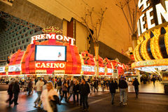 Downtown Las Vegas, Fremont Street Stock Photo