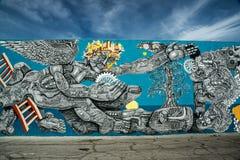 Downtown Las Vegas Mega Mural Stock Photography