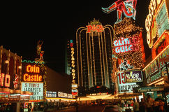 Downtown Las Vegas, Nevada at night Royalty Free Stock Image
