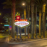 The downtown Las Vegas sign at Royalty Free Stock Photo
