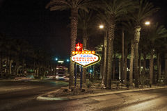 The downtown Las Vegas sign Royalty Free Stock Image