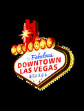 The downtown Las Vegas sign at night Royalty Free Stock Photo