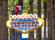 Downtown Las Vegas welcome sign Royalty Free Stock Image