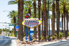 Downtown Las Vegas welcome sign royalty free stock photos
