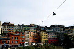 Downtown Lausanne royalty free stock photos