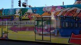 Downtown Light Rail, Phoenix, AZ stock video