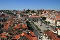 Downtown Lisbon Stock Photo