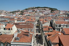 Downtown Lisbon Royalty Free Stock Photos