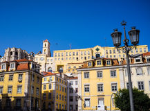 Downtown Lisbon Buildings Rossio Stock Photos