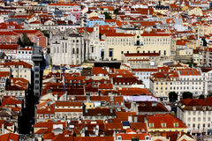 Downtown, LIsbon, Portugal Stock Image