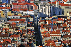 Downtown of Lisbon Stock Photography