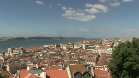 Downtown Lisbon, Portugal. City view of downtown Lisbon, Portugal stock video