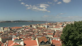 Downtown Lisbon, Portugal. City view of downtown Lisbon, Portugal stock video footage