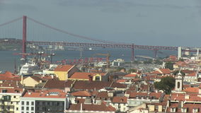 Downtown Lisbon, Portugal. City view of downtown Lisbon, Portugal stock footage