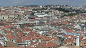 Downtown Lisbon, Portugal. City view of downtown Lisbon, Portugal with Rossio Square stock video footage