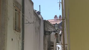 Downtown Lisbon, Portugal. Narrow alley in downtown Lisbon, Portugal stock video