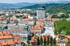 Downtown of Ljubliana capital of Slovenia architecture and lands Stock Images