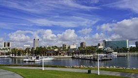 Downtown Long Beach stock video footage