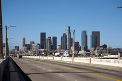 Downtown Los Angeles. Taken from the east side Stock Image